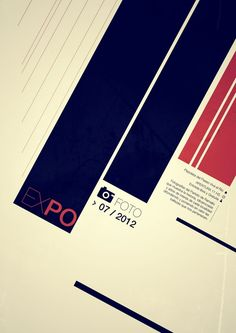EXPOFOTO SWISS STYLE POSTERS by martin liveratore, via Behance