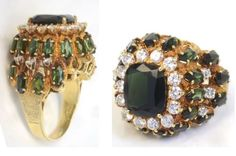 Gold Ring With Diamonds and Tourmaline Worn by... - Elvis never left