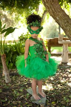 Poison  Ivy inspired tutu dress.....Fabulous for Halloween ,dress up and photo shoots on Etsy,