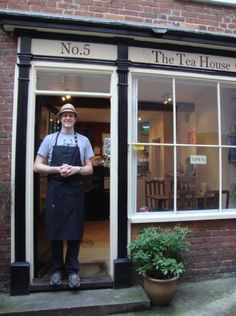 Situated on Norwich's oldest Street, Elm Hill, is The Tea House, Norwich, Norfolk, England