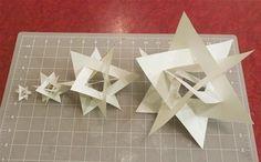 Art: How to create the Orderly Tangle of 4 triangles . combining art and math.Mathematical Art: How to create the Orderly Tangle of 4 triangles . combining art and math. Math Crafts, Math Projects, Math Art, Fun Math, Maths, Classe D'art, Steam Art, Middle School Art, High School