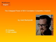 The Untapped Power of SEO Correlation Competition Analysis by Josh Bachynski - http://www.highpa20s.com/link-building/the-untapped-power-of-seo-correlation-competition-analysis-by-josh-bachynski/