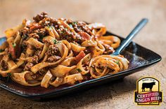 Comforting Beef Bolognese: Taste the difference. There's Angus. Then there's the Certified Angus Beef ® brand.