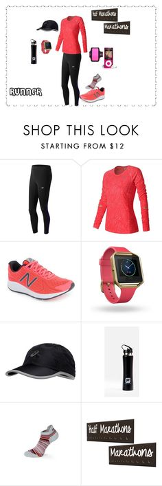 """Marathon Runner"" by constance-dangerfield on Polyvore featuring New Balance, Fitbit, Asics, Fabletics, MPG and NIKE"