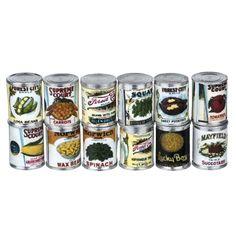 12-Pc. Vintage Canned Vegetable Set