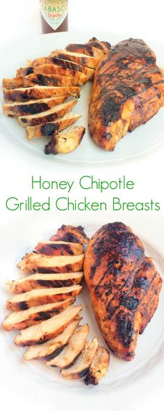 Chicken breasts are marinated in a sweet and smoky honey chipotle sauce then grilled to juicy perfection.