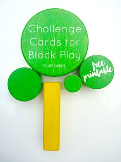 Free printable challenge cards to use with wooden blocks. Perfect for encouraging young children to find new ways to play with their blocks | you clever monkey
