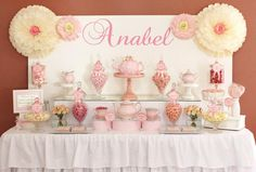 Tea Party Themed Dessert Table