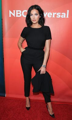 Natalie Halcro arrives at the NBCUniversal 2015 Summer Press Tour