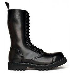 Steel Boots bakancs, 15 lyukú, fekete színben