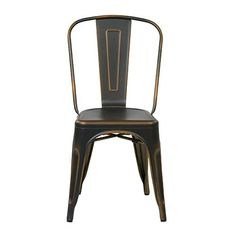 Bristow Antique Copper Armless Chair, Set Of 2 Office Star Products Side Chairs