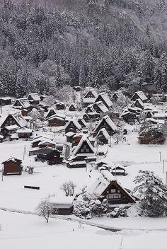 okimari no basho kara - shirakawa village, gifu / ponkan