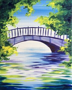Bridge in the Light at Augur's Irish Pub - Paint Nite Events near Guilford, CT>