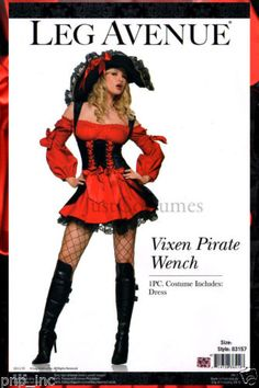LARGE-Sexy-Swashbuckler-Vixen-Pirate-Wench-Womens-Adult-Halloween-Costume-USA