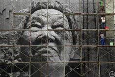 The Wrinkles of the City - Shanghai | JR - Artist  Action in Shanghai, Shi Li, work in progress, Chine, 2010