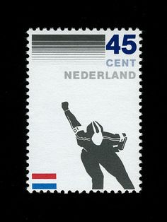 Dutch stamp design  (1982)  Ice Skating