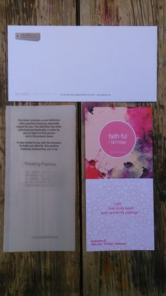 I am faithful positive affirmation card and packaging