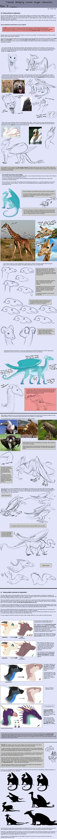 Tutorial: Dragon Designing Tips - part 3/3 by Fourth-Star on DeviantArt