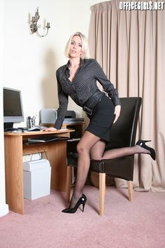In Black Pantyhose Business 110