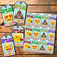 Birthday Party Printable Emoji Tags