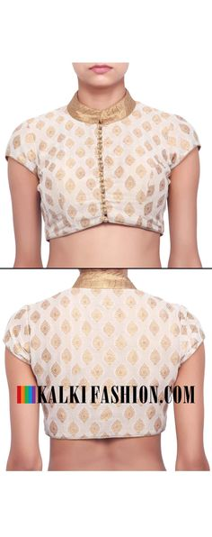 Buy online at: http://www.kalkifashion.com/cream-brocade-blouse-only-on-kalki.html Free shipping worldwide.