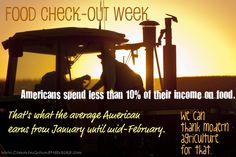 Food Check-Out Week - American's spend less than 10% of their income on food!