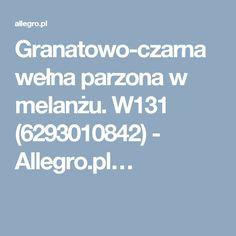 Granatowo-czarna wełna parzona w melanżu. W131 (6293010842) - Allegro.pl…