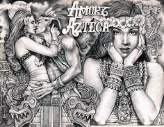 Amor Azteca by Mouse Lopez Lowbrow Artwork Canvas Art Print
