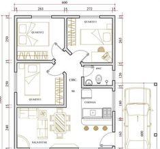 Modelo De Casa De 2 Quartos