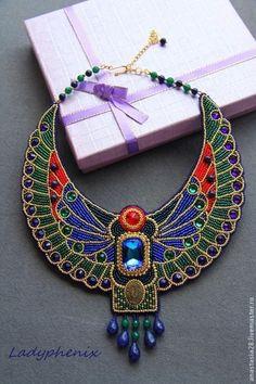 "Колье ""На берегах Нила"" #beads #beadart #jewelry"