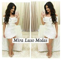 Vestido Branco de Trico Ciganinha - comprar online