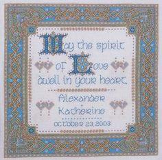 renaissance wedding cross stitch kit | Celtic Embroidery Designs – Basic Medieval Cross Stitch Patterns