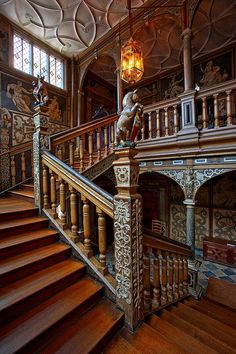 staircase from Knole castle in England