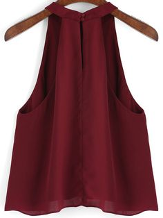 Shop Burgundy Loose Cami Top at ROMWE, discover more fashion styles online. Red Fashion, Cute Fashion, Fashion Outfits, Stylish Outfits, Cute Outfits, Blouse Designs Catalogue, Summer Outfits For Teens, Fashion Photography Inspiration, Blouse Styles