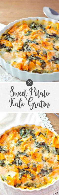 Sweet Potato and Kale Gratin | Delicious Meets Healthy