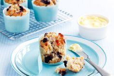 Overnight fruit and muesli muffins