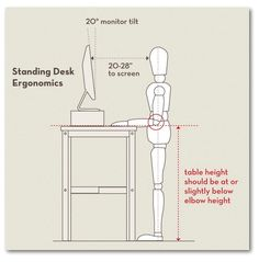 Work-at homers: How to set up a stand-up desk.