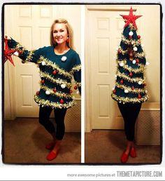 Best ugly Christmas sweater ever! Doing this next year.