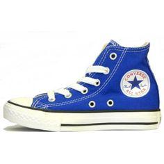 Converse Mens / Ladies Dazzling Blue Hi Pumps Cheap Converse Shoes, Blue Converse, Outfits With Converse, Converse Sneakers, Converse All Star, Converse Chuck Taylor, High Top Sneakers, Ladies Converse, Custom Converse