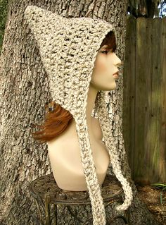 Ravelry: The Crochet Signature Pixie Hat pattern by Diane Serviss  making this one!!