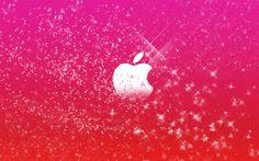 Apple Logo in Pink Glitters wallpaper - ForWallpaper.com