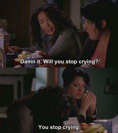 Cristina and Callie... This makes me laugh!