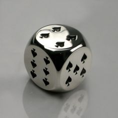 High Roller Dice in Sterling Silver - Mens and Womens Accessories - Designer Jewellery by Stephen Einhorn London Geeks, 3d Prints, Silver Lining, Jewelry Design, Designer Jewellery, Jewellery Shops, Dungeons And Dragons, Art Reference, Board Games