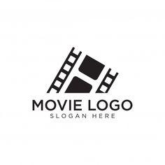 Dj Logo, Film Logo, Vector Logo Design, Logo Design Template, Film Company Logo, Movie Black, Photography Logo Design, Studio Logo, Media Logo