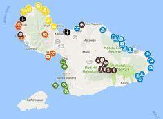 5 days in Maui - sample itinerary map #HawaiiTravel