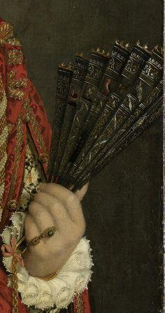 Giovanni Battista Moroni - Portret van een jonge vrouw