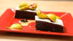 Chocolate Espresso Olive Oil Cake with Figs and Brandy