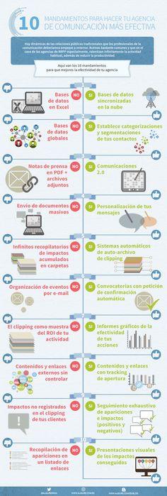 10 mandamientos para hacer tu agencia de comunicación más efectiva #infografia