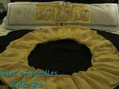 Oodles of Poodles blanket, knit granny squares