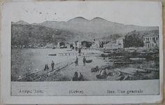1941 Grèce Itea, Vue generale cartolina postale senza francobollo